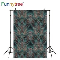 Funnytree photography backdrops blue cloth lerther linen weave