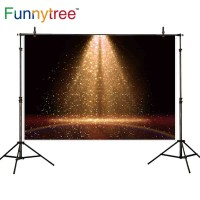 Funnytree photography backdrops black stage spotlight Ballet party