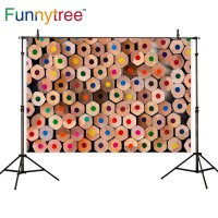 Funnytree photography backdrops colorful pencil art bright pastel