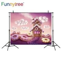 Funnytree photography backdrops fantasy colorful houses Doughnut