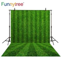 Funnytree photography backdrops soccer field grass green stripes