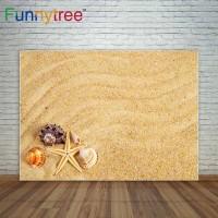 Funnytree photography backdrops ocean shells sand photocall starfish