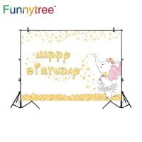 Funnytree photography backdrops cartoon elephant golden stars little