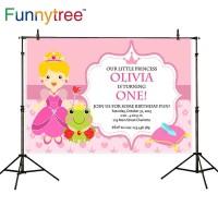 Funnytree photography backdrops pink princess Frog prince Crystal
