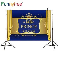 Funnytree photography backdrops crown luxury little prince glitter