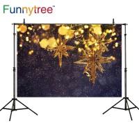 Funnytree photography backdrops christmas golden snowflake