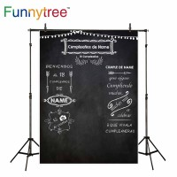 Funnytree photography backdrops blackboard chalk drawing Custom text