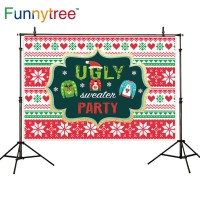 Funnytree photography backdrops christmas snow winter Sweater