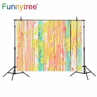 Funnytree photography backdrops colorful painted wooden texture