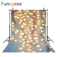 Funnytree photography backdrops glitter hearts bokeh baby shower