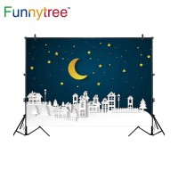 Funnytree photography backdrops nighttime building city scene