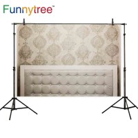 Funnytree photography backdrops headboard damask vintage wooden