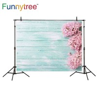 Funnytree photography backdrops pink flowers hyacinths turquoise