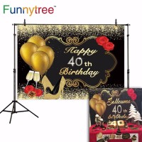 Funnytree photography backdrops golden balloon rose High heels Happy