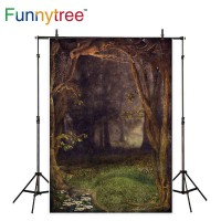 Funnytree photography backdrops photocall dark forest trees