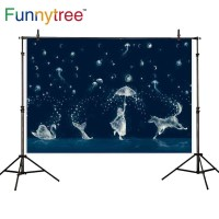 Funnytree photography backdrops night sky Water drops Jelly Fish