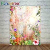 Funnytree photography backdrops flowers watercolor painting spring