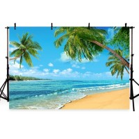 G-502 Vinyl Beach Backdrops Blue Sky and Sea Photo Booth Backgrounds