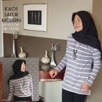 Baju Atasan Wanita kaos salur Murah - Salem
