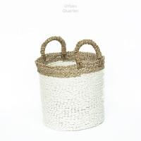 Round Natural White Basket