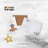Kartu Ucapan Natal Ginger + Amplop Vintage (Kartu Natal Murah Bagus)
