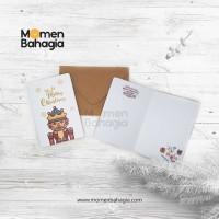Kartu Ucapan Natal Prajurit + Amplop Vintage (Kartu Natal Murah Bagus)