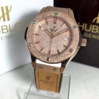 Jam Tangan Wanita Merk HB Bigbang Geneve 3.5 MM Quartz Clone