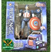 J914 JJ608 Mainan Anak Diecast Revenge Hero Alliance Captain America