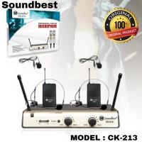 Mic Wireless soundbest CK-213 Original Jepit/Headset + Jepit/Headset