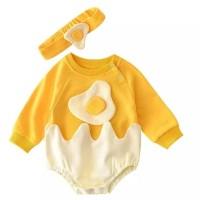 Jumper bayi gambar telor / Pakaian bayi gambar makanan