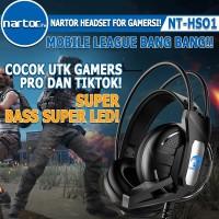 NARTOR NT-HS01 Headphone HEADSET SUPERBASS LED GAMING PUBG