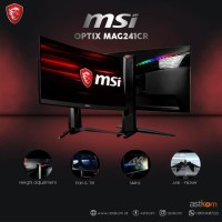 """MSI Optix MAG241CR 24"""" Curved Gaming Monitor With RGB Mystic Light"""