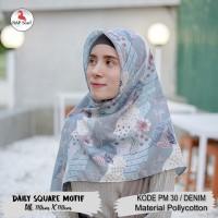 Hijab Daily Square Motif Denim Pollycotton PM 30