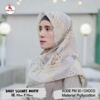 Hijab Daily Square Motif Choco Pollycotton PM 30