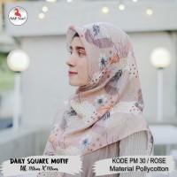 Hijab Daily Square Motif Rose Pollycotton PM 30