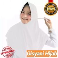 jilbab Instan Serut Jokowi Warna Putih