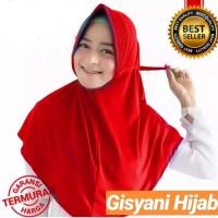 Jilbab Instan Serut Jokowi Warna Merah Cabai
