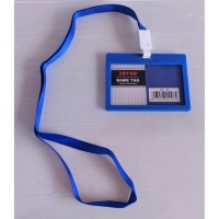 Joyko ID Card Holder 54 x 90 mm Landscape + Lanyard NT-56 BLUE