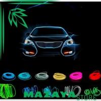 Seametal Lampu Interior Mobil LED Neon 3 Meter   12V Inverter -
