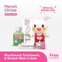 Paket Pasta gigi, Mouthwash,Stretch mark cream Mamas choice +free gift
