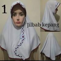 Jilbab bergo instan anak sekolah SD kepang Limited