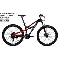 SEPEDA MTB 27.5 INCH PACIFIC AQUILA 2.0 SUSPENSI 24 SPEED FORK LOCK