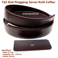 Tali Kulit Jarum Ikatpinggang Leather COFFEE