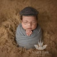 Beige Flokati Rug Baby Photography