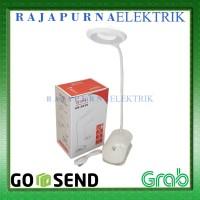 Lampu belajar / lampu baca LED jepit AOKI , Desk lamp aoki jepit BARU!