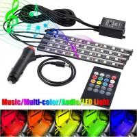 Lampu Kolong Kabin Dashboard Footstep LED RGB Remote Music Controller