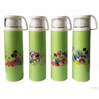 Termos Karakter Tutup Gelas Botol Minum 500ml- Mickey Minnie Mouse