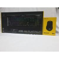 Corsair K95 Platinum + Iron claw FPS RGB Garansi Resmi DTG 2 Tahun