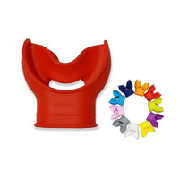 Diving Airbubble air bubble mouthpiece comfort regulator RD - Merah