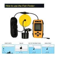 Hot Alarm Fishing Sensor 100M Portable Sonar LCD Fish Detector Finder